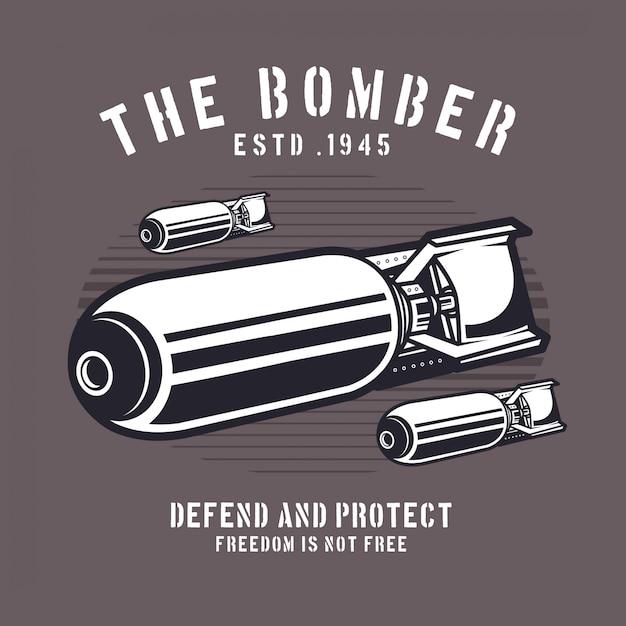 航空爆弾 Premiumベクター