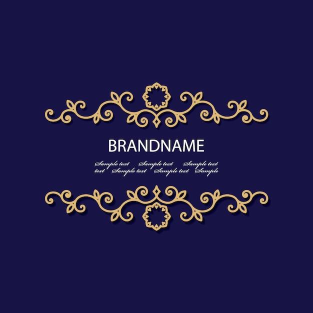 Роскошная золотая открытка Premium векторы