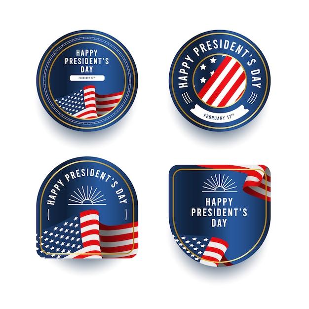 大統領の日バッジコレクション Premiumベクター