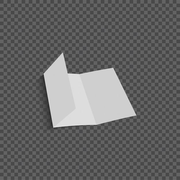 Векторная открытая пустая складная бумажная брошюра Premium векторы