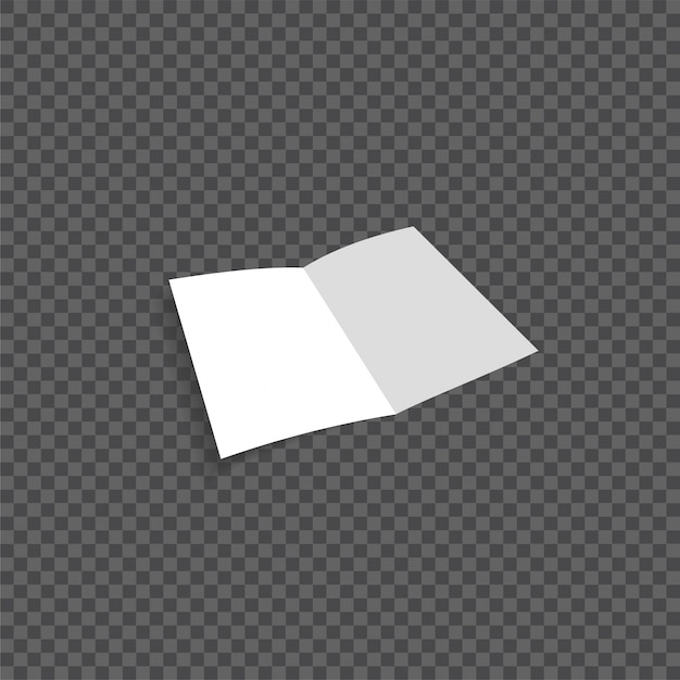 Вектор открытый пустой складной бумажный листок Premium векторы