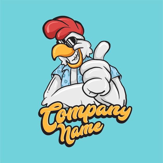 チキンマスコットロゴ Premiumベクター