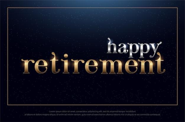 幸せな退職パーティシルバーと黄金色の背景 Premiumベクター