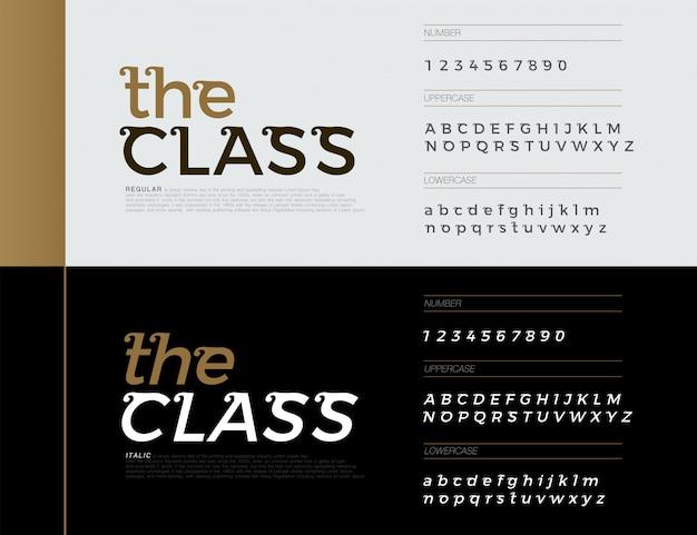 Элегантные буквы алфавита шрифты. эксклюзивные письма Premium векторы