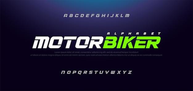 スポーツモダンイタリックアルファベットタイポグラフィアーバンフォント Premiumベクター