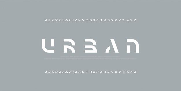 Абстрактные шрифты современного алфавита. Premium векторы