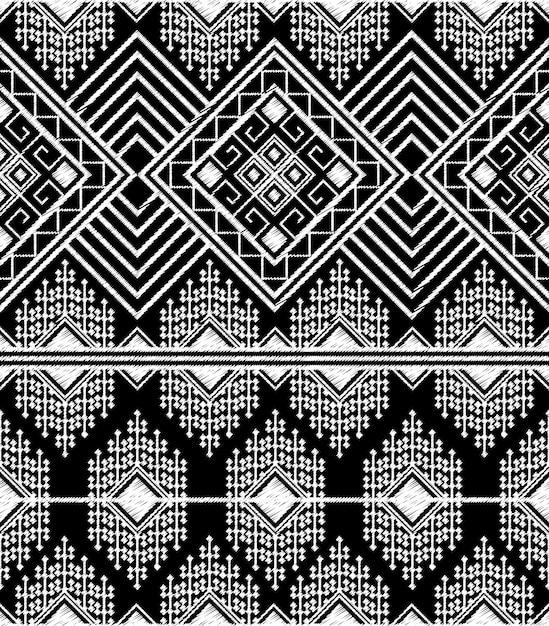 部族のアステカのシームレスなパターンを落書き Premiumベクター