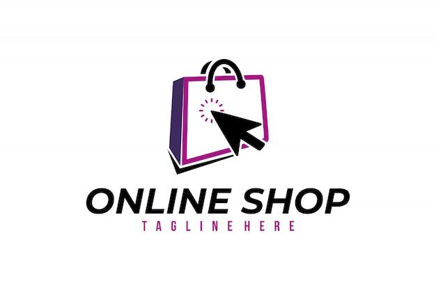 Интернет-магазин логотип вектор изолированных дизайн Premium векторы