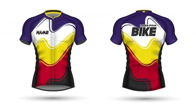 サイクリングジャージテンプレート Premiumベクター