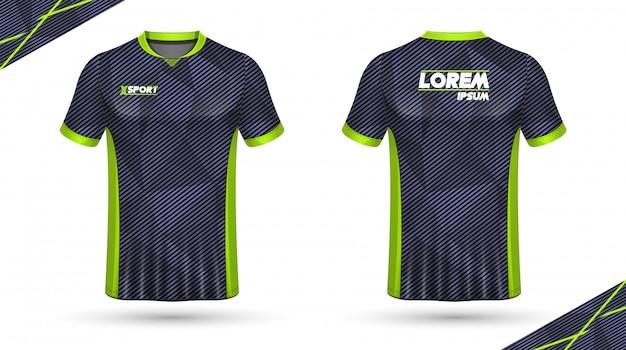 サッカーシャツのテンプレート Premiumベクター