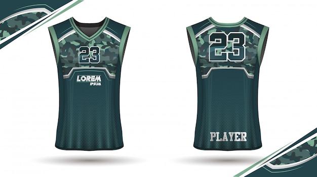 Баскетбольная рубашка дизайн Premium векторы