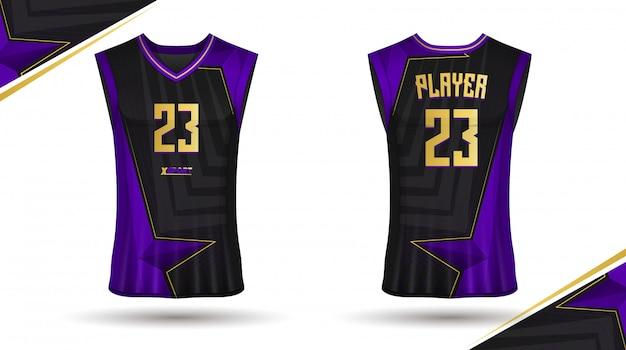 バスケットボールシャツデザイン Premiumベクター