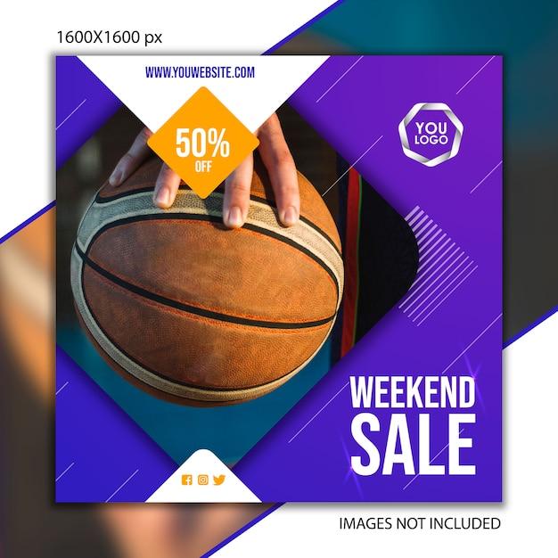 ソーシャルネットワーク用スポーツ出版バスケットボール Premiumベクター