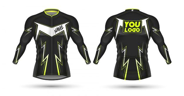 Велоспорт джерси дизайн рубашки Premium векторы