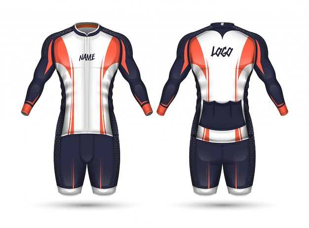 Цикл джерси дизайн рубашки Premium векторы