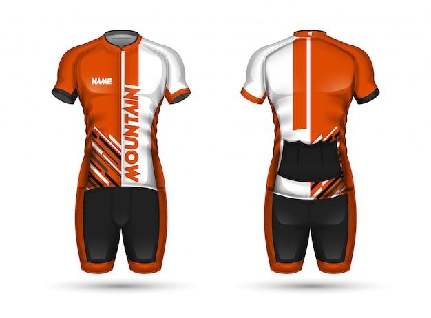 サイクルジャージーシャツのデザイン Premiumベクター