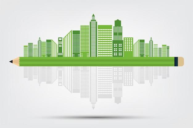 エコロジーのコンセプトと環境にやさしいアイデア Premiumベクター