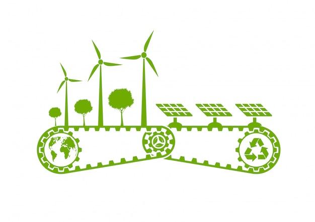 環境の持続可能なエネルギー開発 Premiumベクター