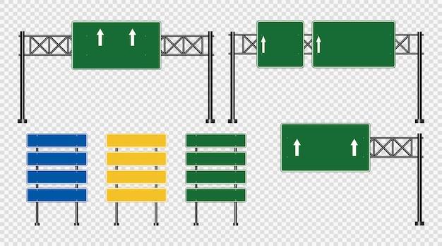 交通標識、透明で分離された道路標識 Premiumベクター