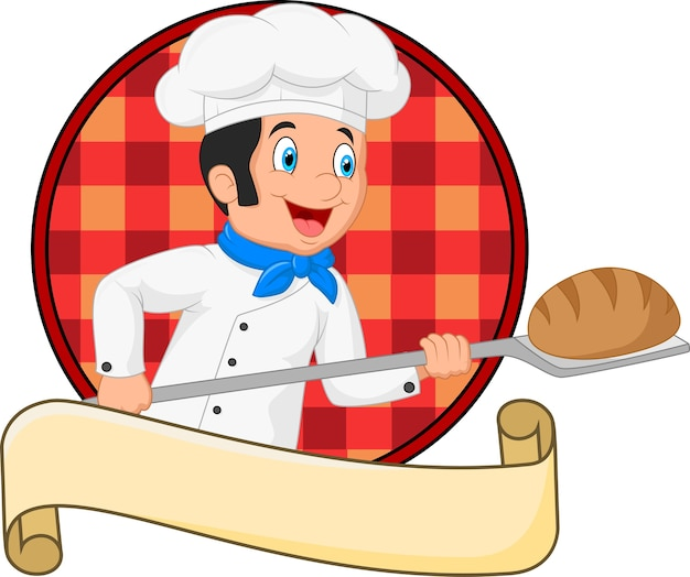 рисунок пекарь с хлебом гиггз