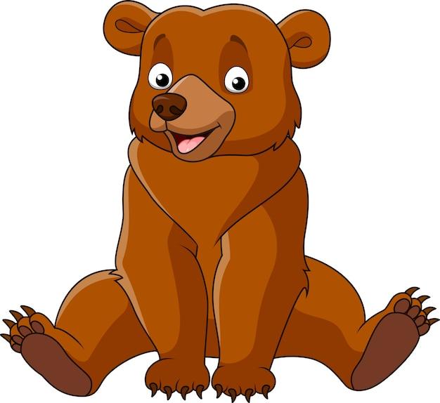Картинка медведь нарисованный на белом фоне