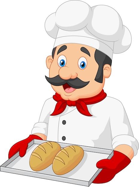 Детский рисунок пекарь