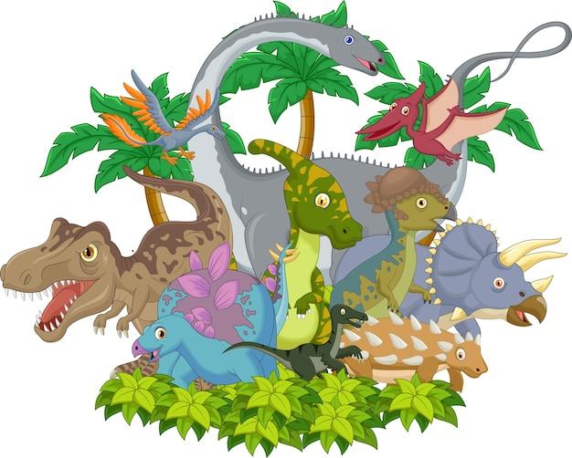 漫画動物恐竜 Premiumベクター