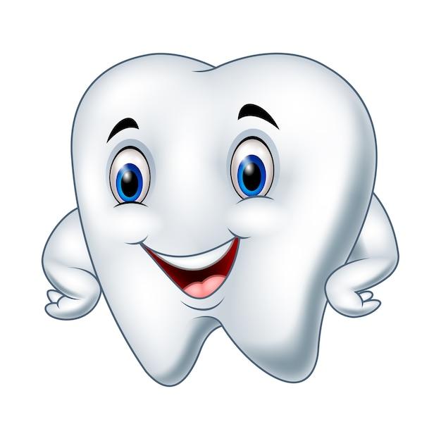 Картинка для детей грустного и веселого зуба