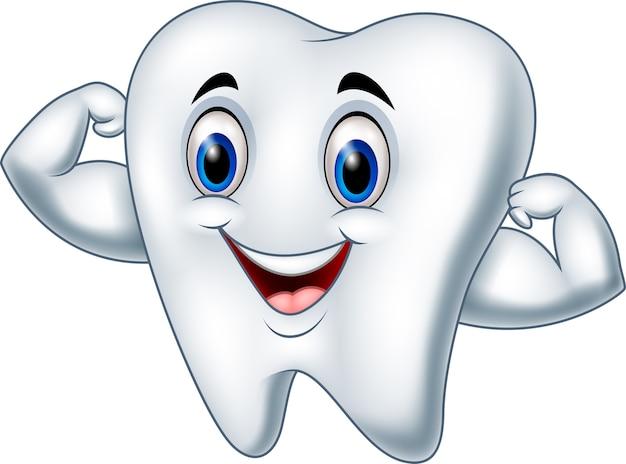 漫画の強い歯の文字 Premiumベクター