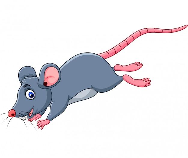 漫画面白いマウスジャンプ Premiumベクター