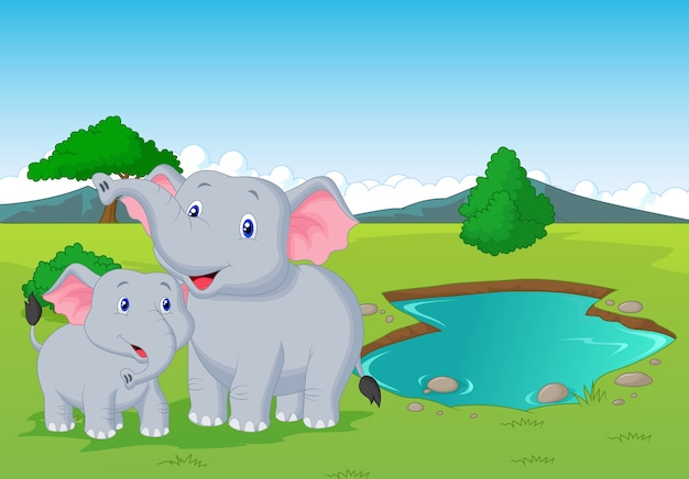 можете картинки мультяшных слонов семья этих