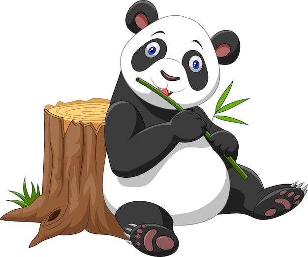 かわいいパンダの漫画 Premiumベクター