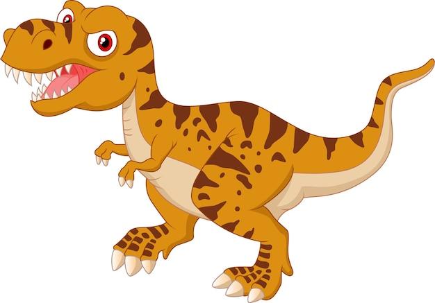 怒っている漫画のティラノサウルス Premiumベクター