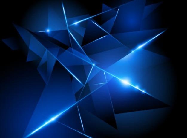 青の図形で作った抽象的な背景。 無料ベクター