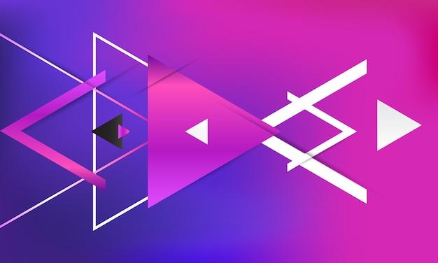 抽象的なグラデーション幾何学的背景。 Premiumベクター
