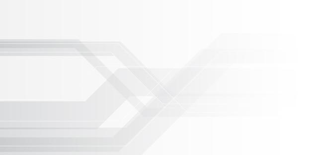グレーグラデーションシルバーの抽象的な最小限の背景 Premiumベクター