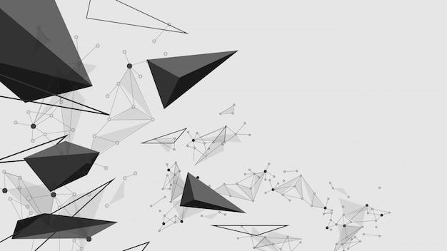 抽象的な黒い爆発線。技術通信の概念のベクトルの背景 Premiumベクター