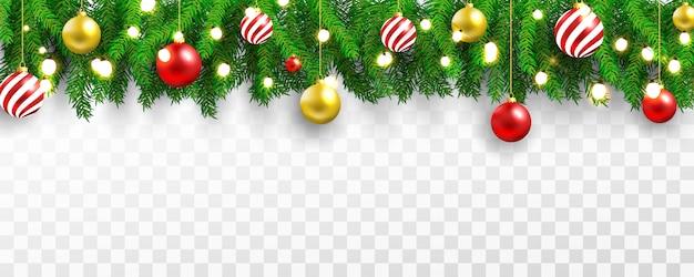 クリスマスパーティーと幸せな新年の光のバナーの背景。 Premiumベクター