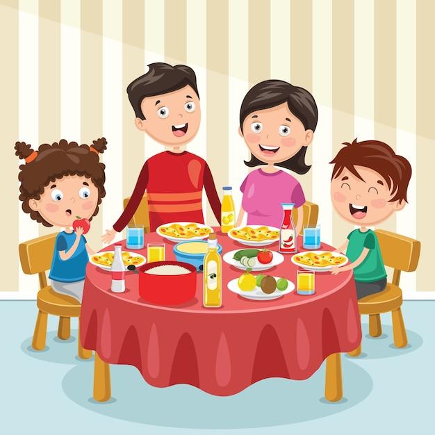 Детские картинки ужин