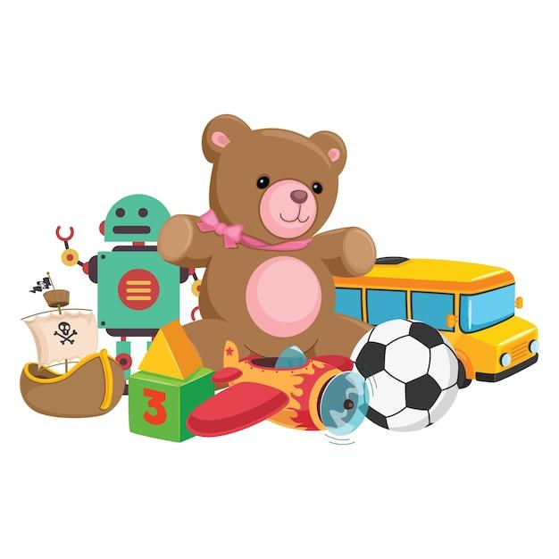 子供のおもちゃのベクトル図 Premiumベクター