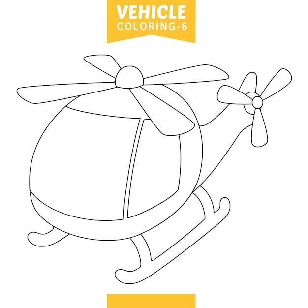 Векторная иллюстрация автомобиля окраски страницы Premium векторы