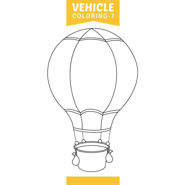 自動車ぬりえページのベクトルイラスト Premiumベクター