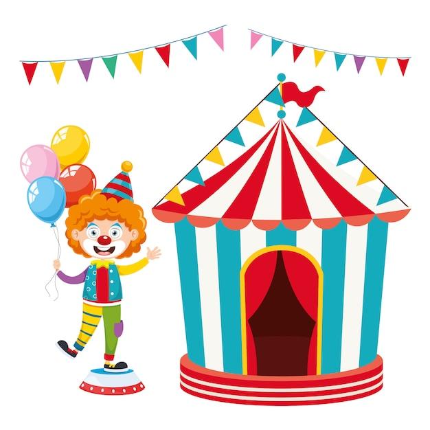 Векторная иллюстрация цирка Premium векторы