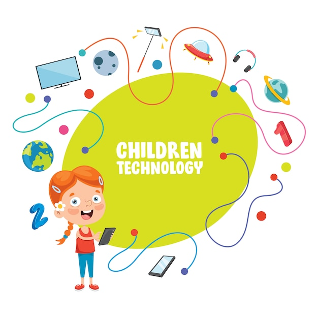 子供の技術のベクトルイラスト Premiumベクター