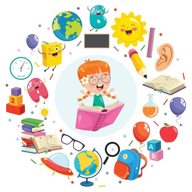 子どもの教育 Premiumベクター