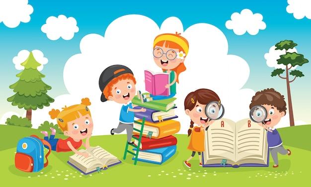 Образование детей Premium векторы