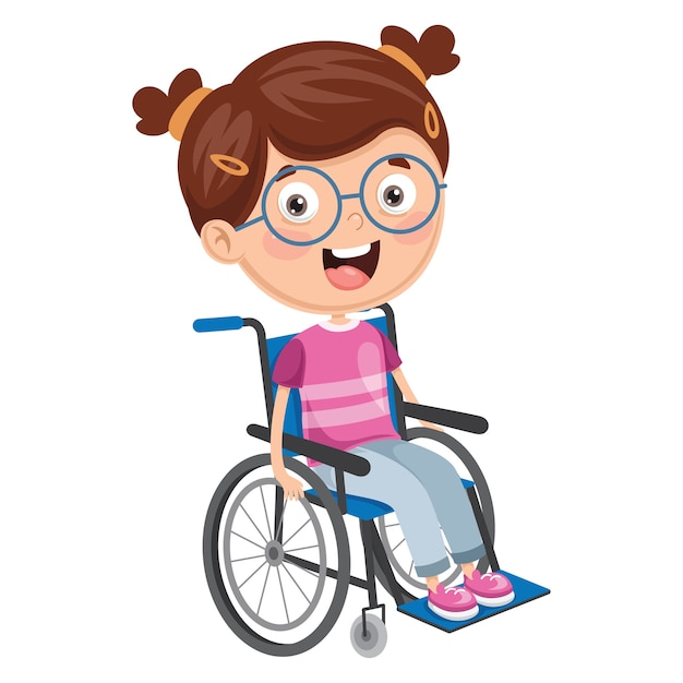 Анимация, картинки дети инвалиды мультяшные
