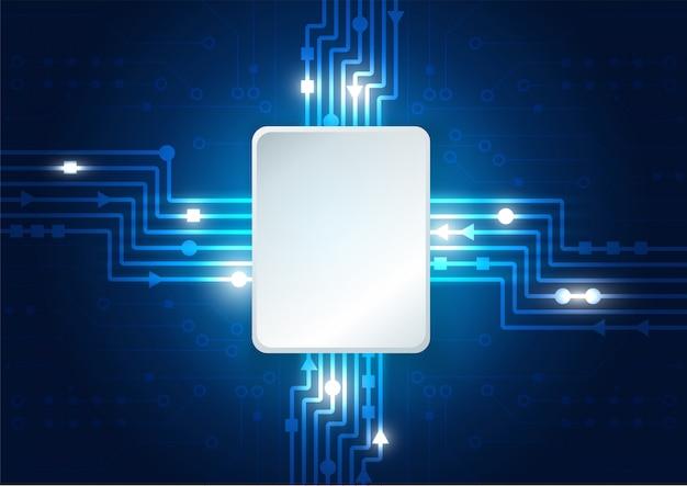 ハイテク技術の幾何学的な背景 Premiumベクター