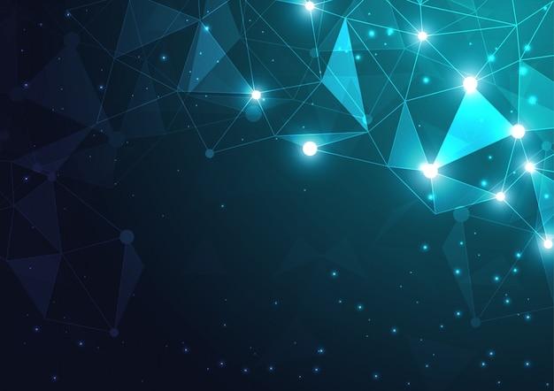 幾何学的なハイテク技術 Premiumベクター