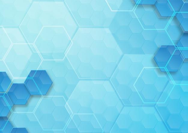 Узор шестиугольника фон абстрактный и геометрические обои с крышкой веб-формы Premium векторы